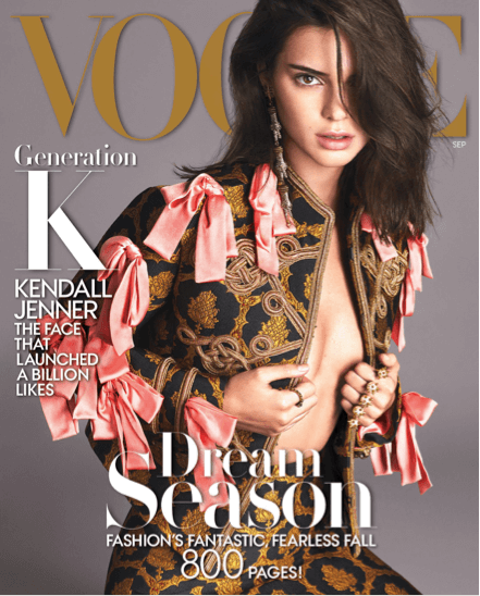 Kendall Jenner on Vogue (2016 September Issue)