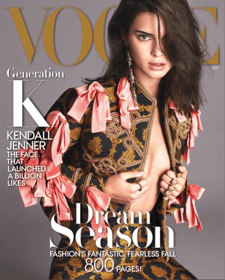 Kendall Jenner on Vogue (2016 September Issue)