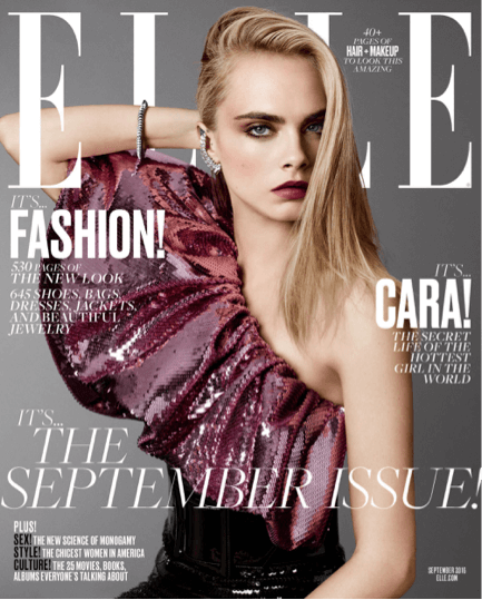 Cara Delevingne on Elle (2016 September Issue)