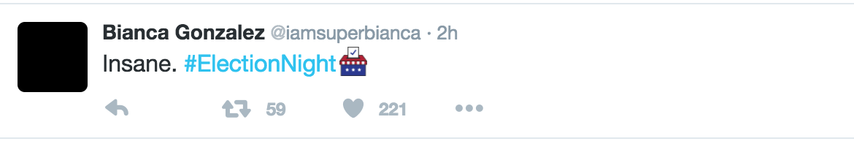 Bianca G Tweet