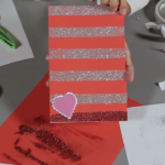 Here's an easy Valentine's card you can do at home