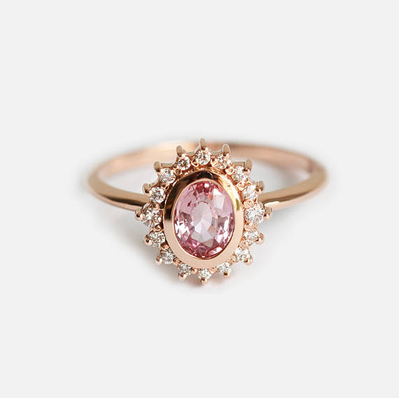 ring mod trillion audry rings rose diamond